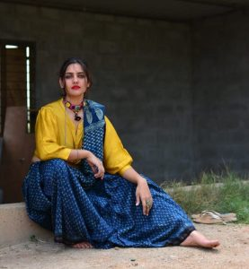 Ajrakh saree